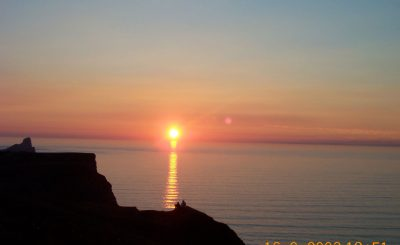 Rhossili sun set Gower